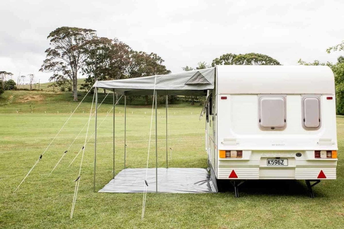 Our Fantastic Universal Awnings for both NZ and EU Caravans